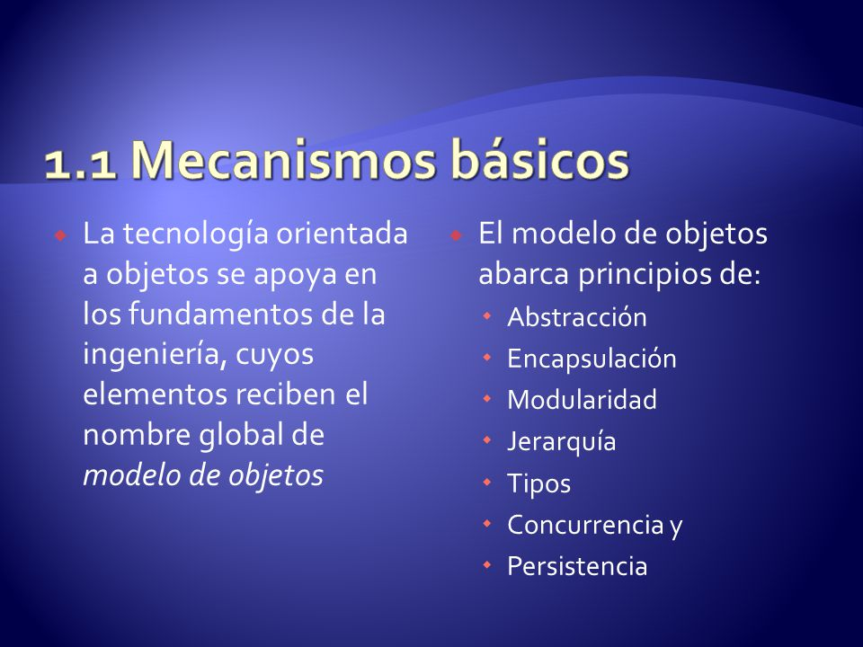 1.1 Mecanismos básicos