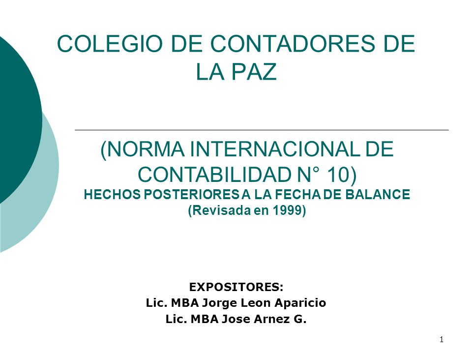 COLEGIO DE CONTADORES DE LA PAZ