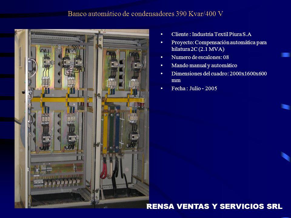 Banco automático de condensadores 390 Kvar/400 V