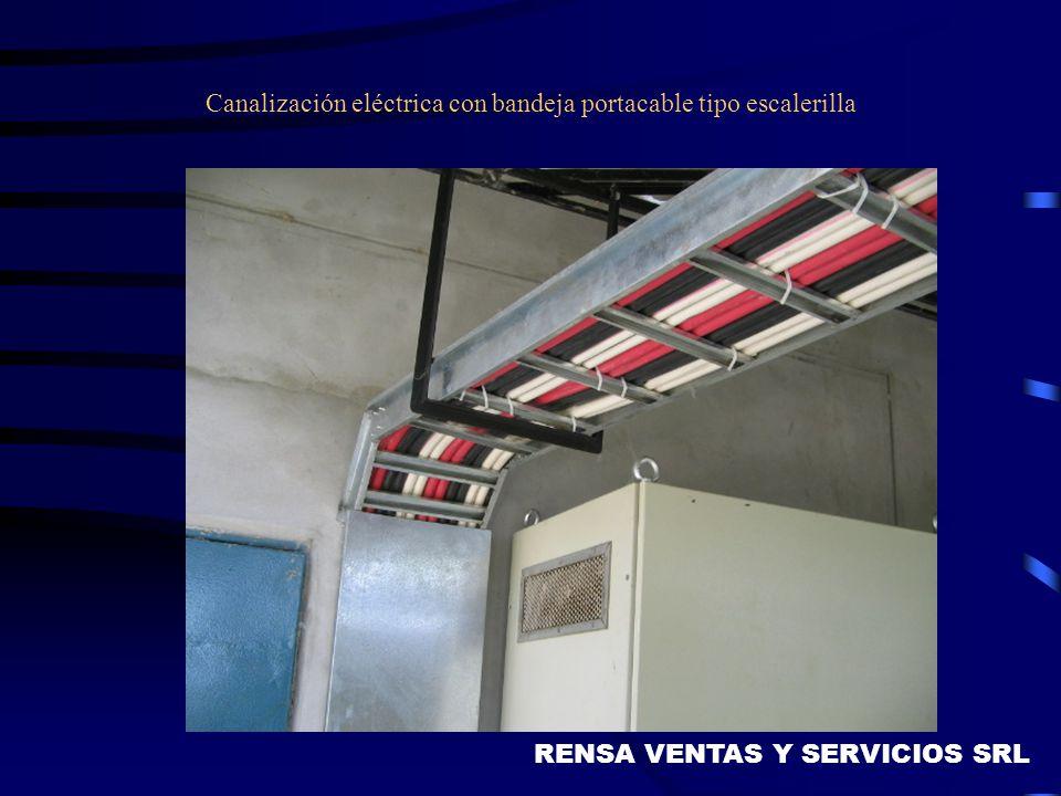 Canalización eléctrica con bandeja portacable tipo escalerilla