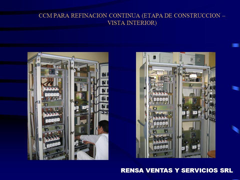 CCM PARA REFINACION CONTINUA (ETAPA DE CONSTRUCCION – VISTA INTERIOR)