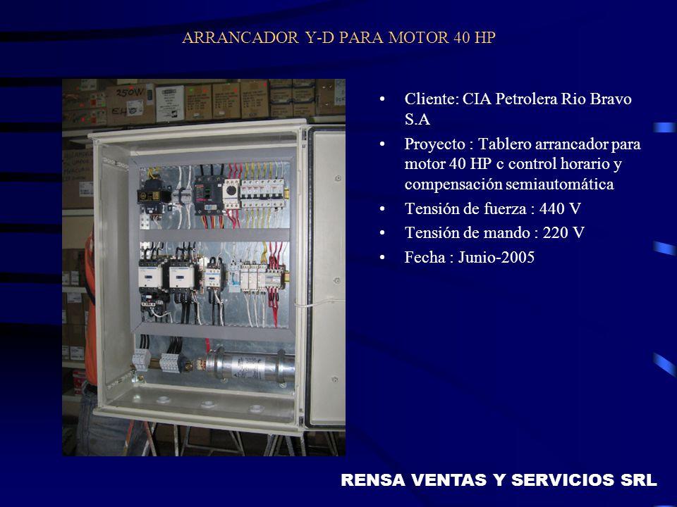ARRANCADOR Y-D PARA MOTOR 40 HP