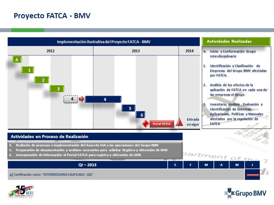 Proyecto FATCA - BMV Actividades en Proceso de Realización