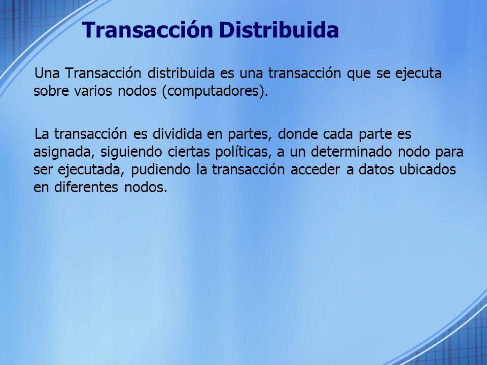Transacción Distribuida
