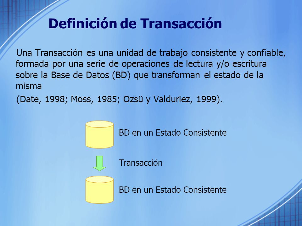Definición de Transacción