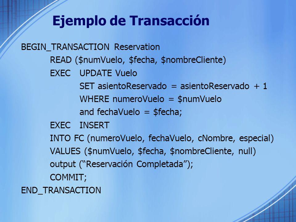 Ejemplo de Transacción