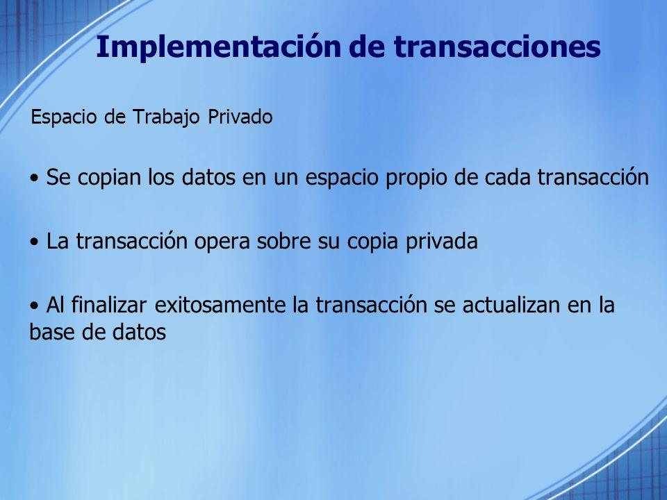 Implementación de transacciones