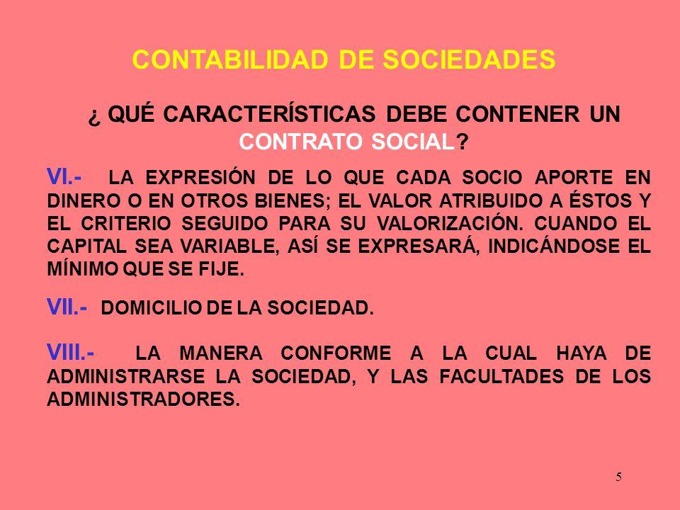¿ QUÉ CARACTERÍSTICAS DEBE CONTENER UN CONTRATO SOCIAL