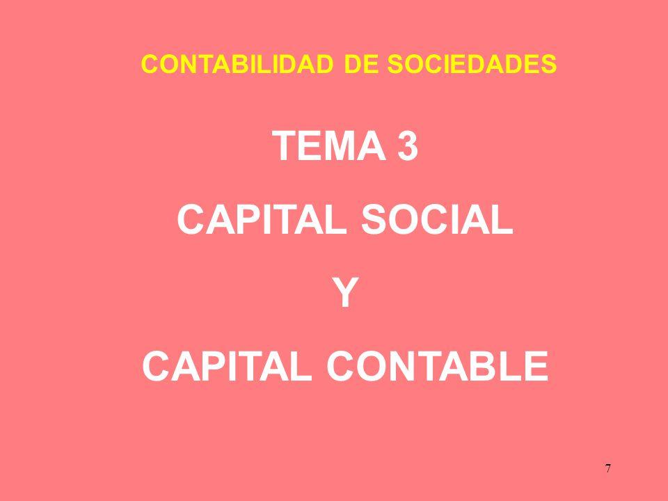 TEMA 3 CAPITAL SOCIAL Y CAPITAL CONTABLE
