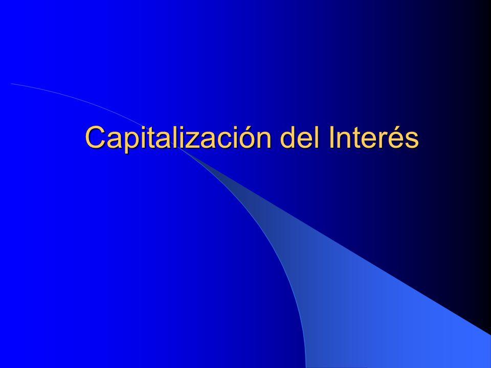 Capitalización del Interés