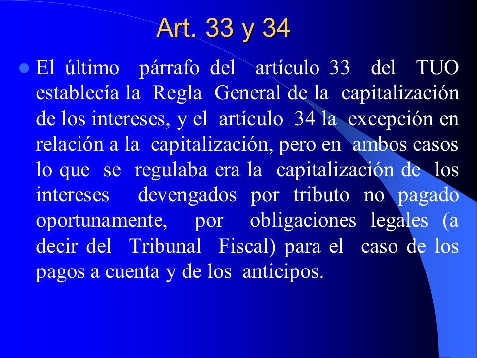 Art. 33 y 34