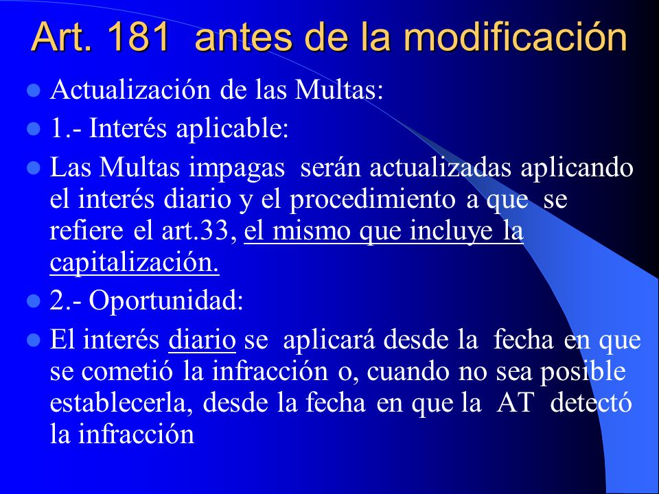 Art. 181 antes de la modificación