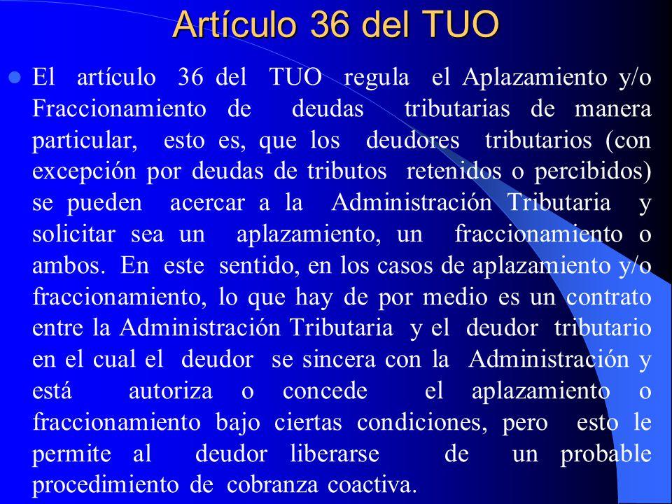 Artículo 36 del TUO