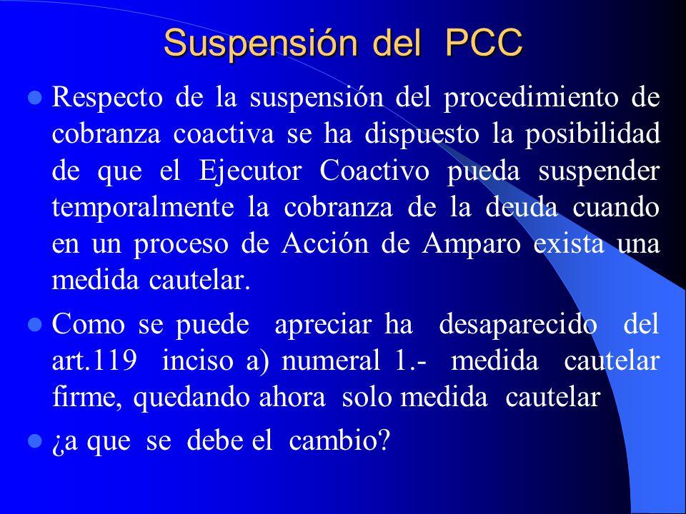 Suspensión del PCC