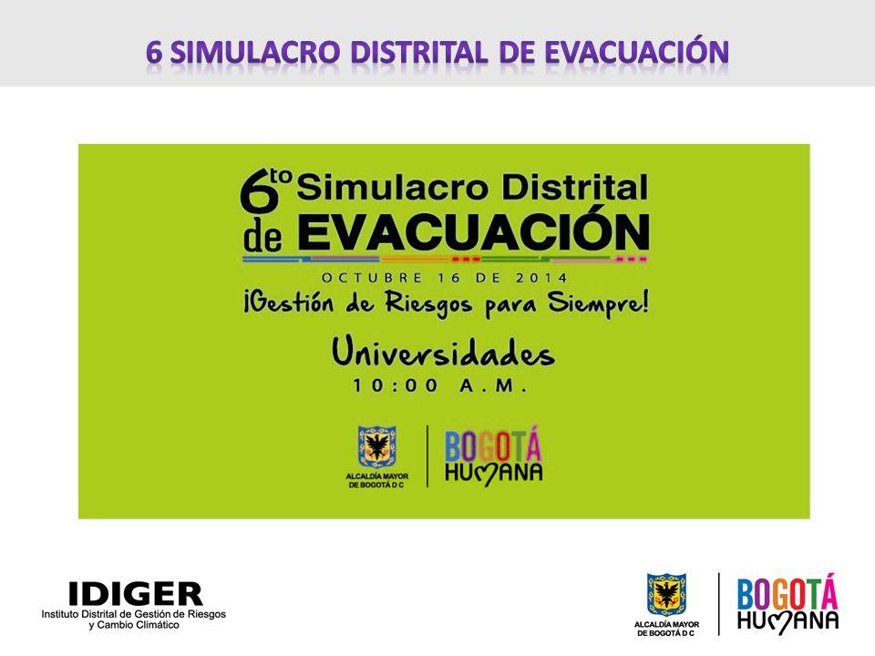 6 SIMULACRO DISTRITAL DE EVACUACIÓN