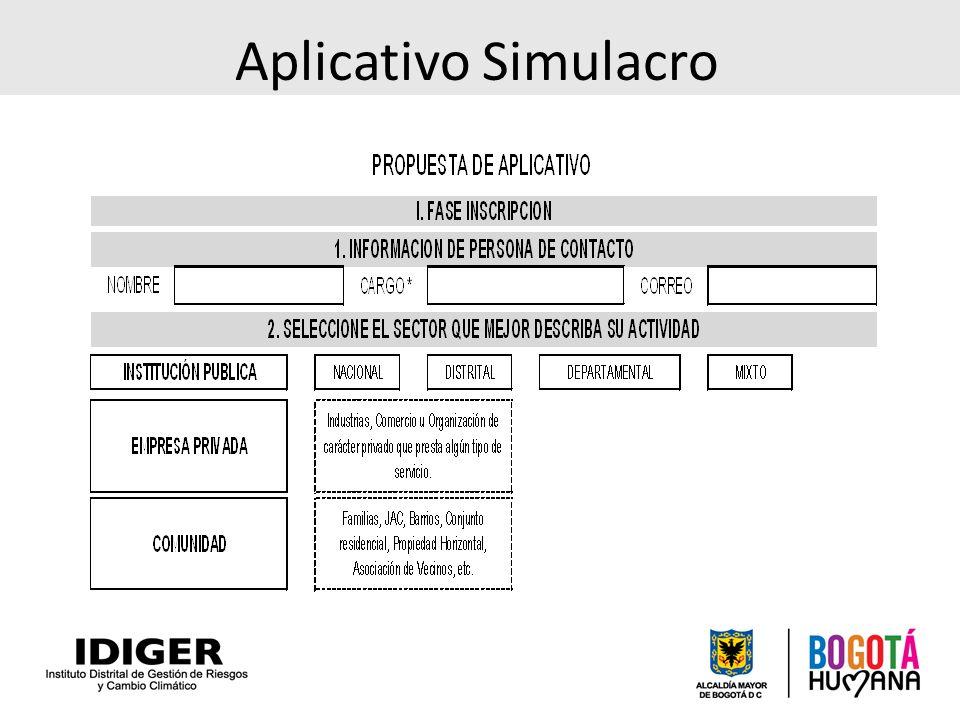 Aplicativo Simulacro