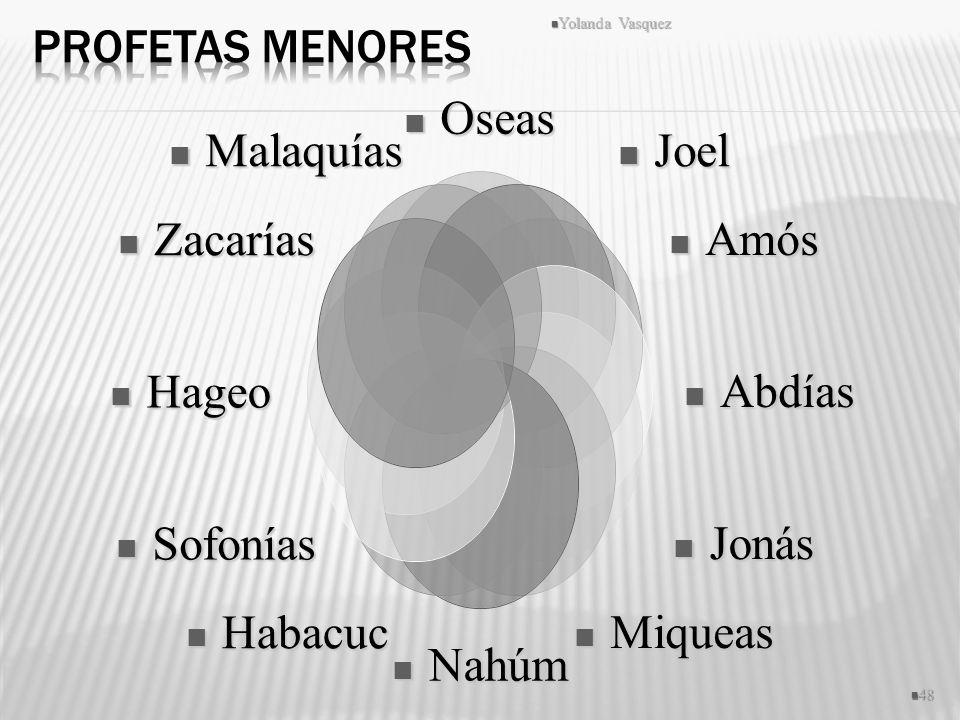 Profetas Menores Yolanda Vasquez
