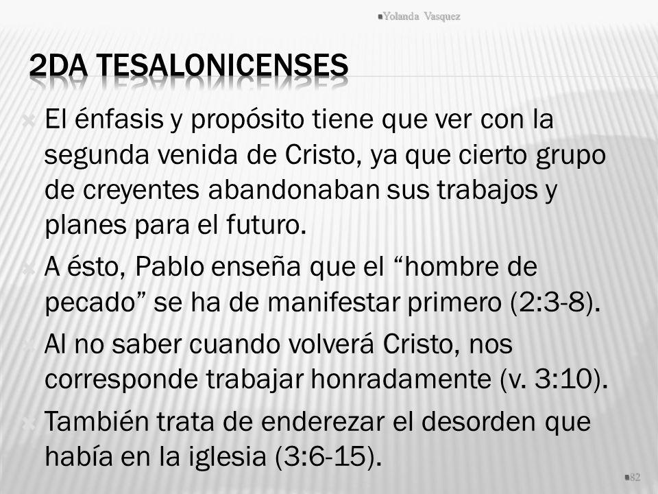 Yolanda Vasquez 2da Tesalonicenses.