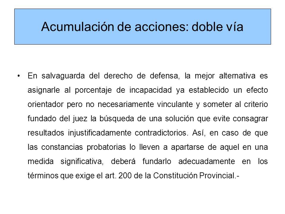 Acumulación de acciones: doble vía