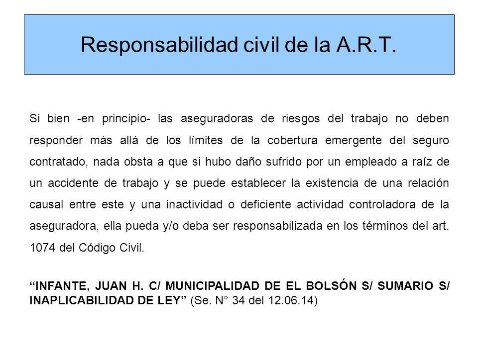 Responsabilidad civil de la A.R.T.