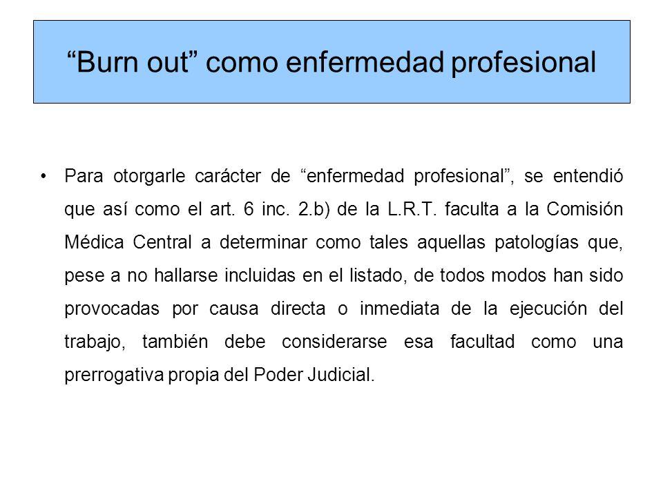 Burn out como enfermedad profesional