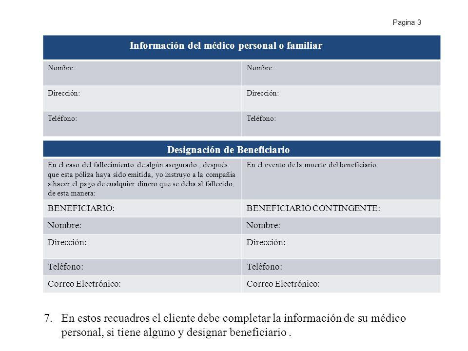 Información del médico personal o familiar