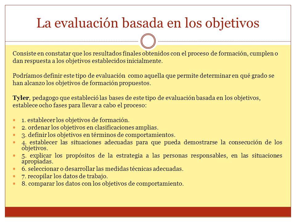 La evaluación basada en los objetivos