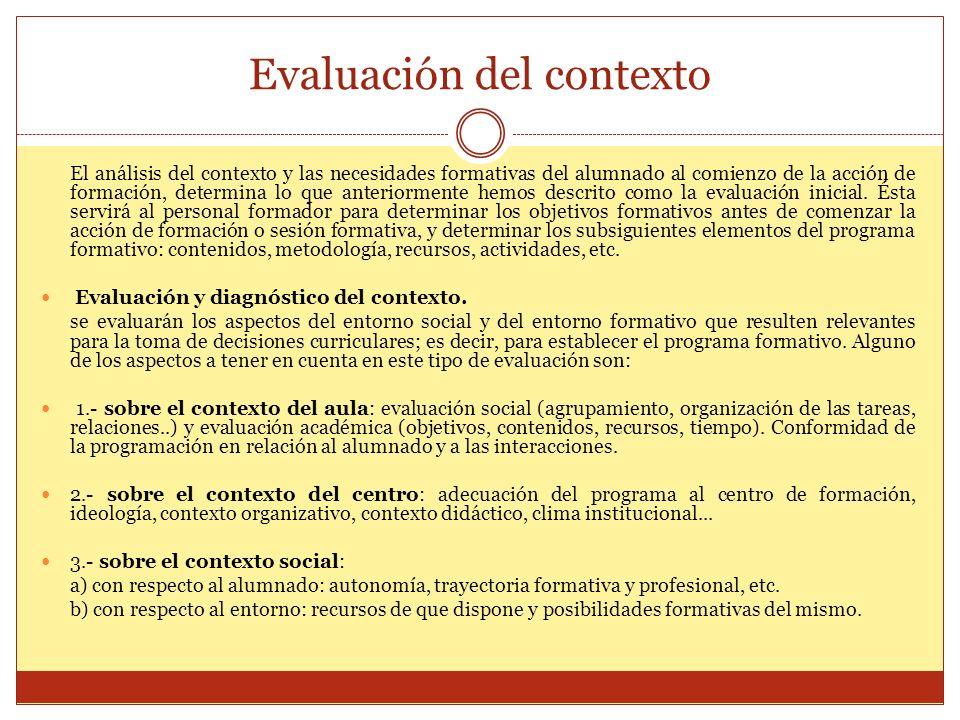 Evaluación del contexto
