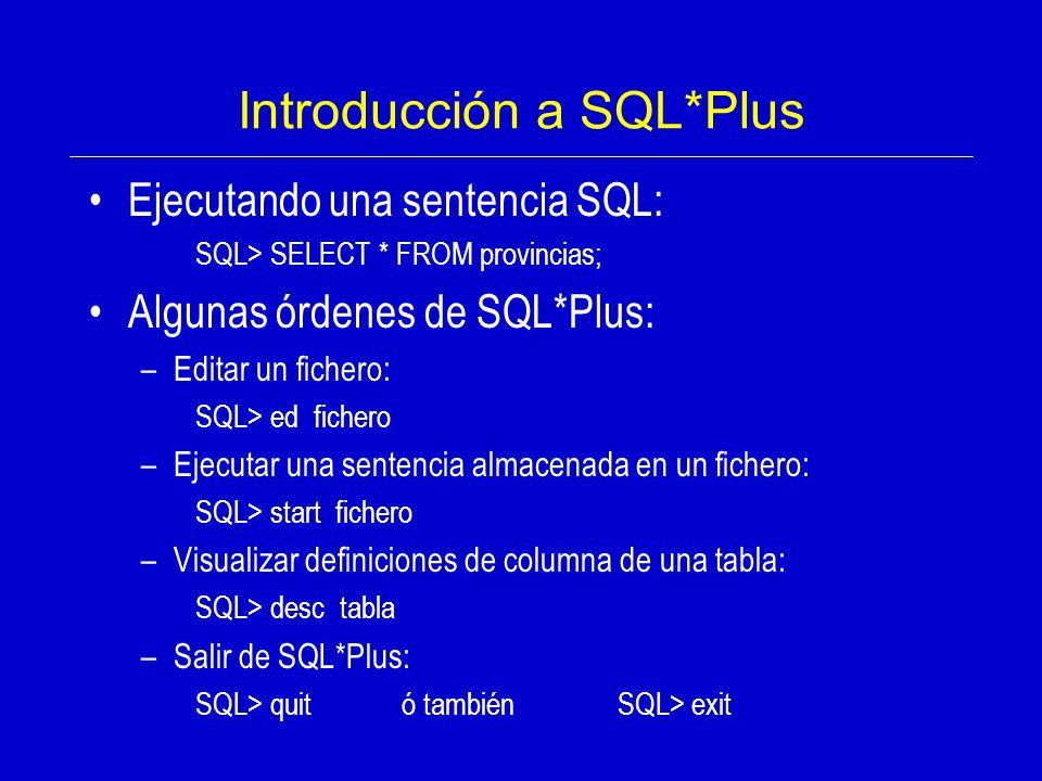 Introducción a SQL*Plus