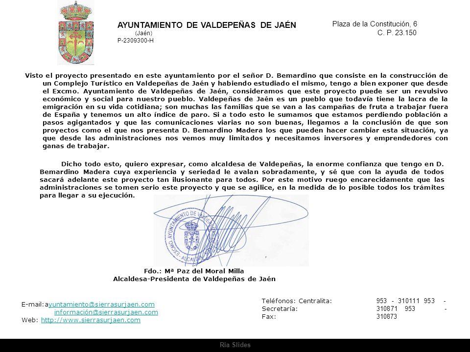 AYUNTAMIENTO DE VALDEPEÑAS DE JAÉN (Jaén)