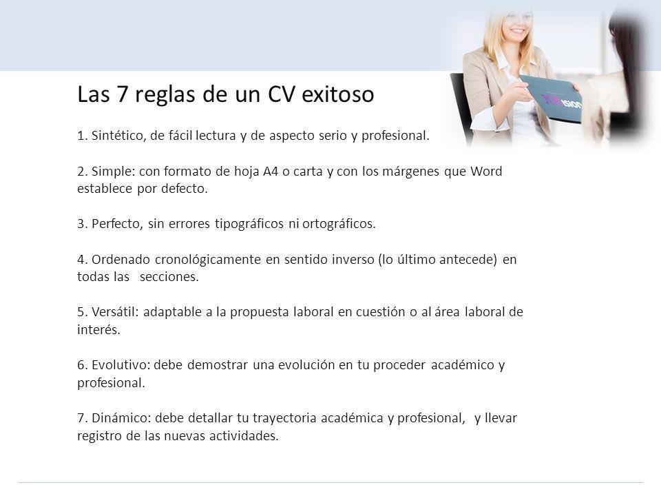 Las 7 reglas de un CV exitoso 1
