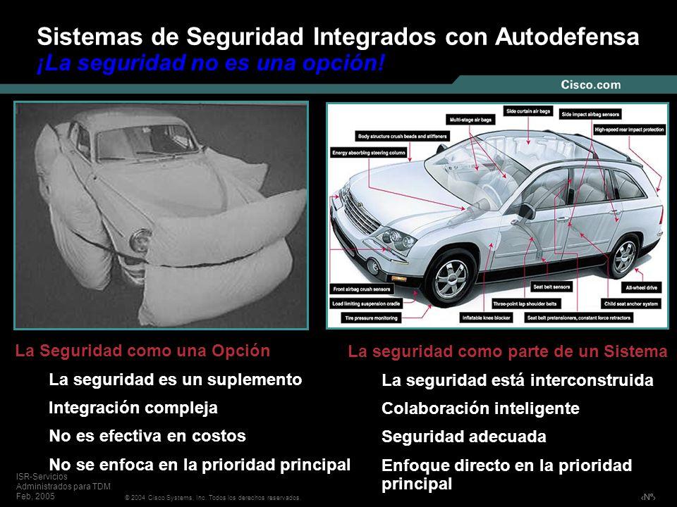 Sistemas de Seguridad Integrados con Autodefensa ¡La seguridad no es una opción!