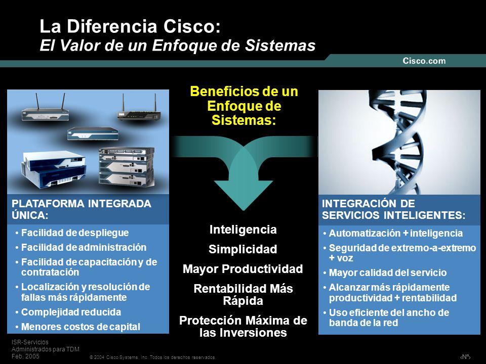 La Diferencia Cisco: El Valor de un Enfoque de Sistemas