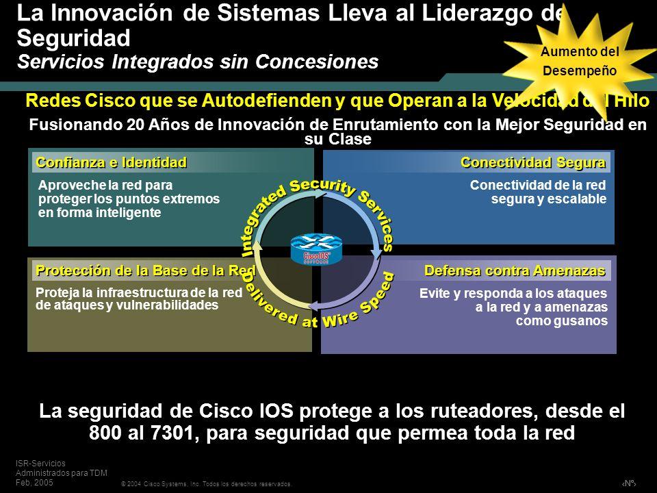 Redes Cisco que se Autodefienden y que Operan a la Velocidad del Hilo