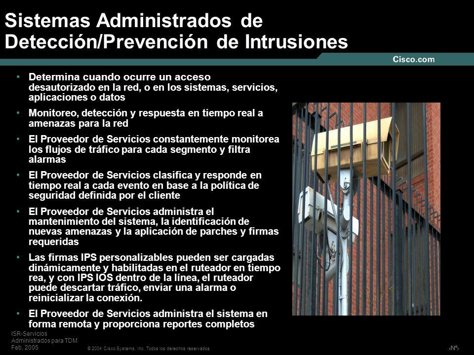 Sistemas Administrados de Detección/Prevención de Intrusiones