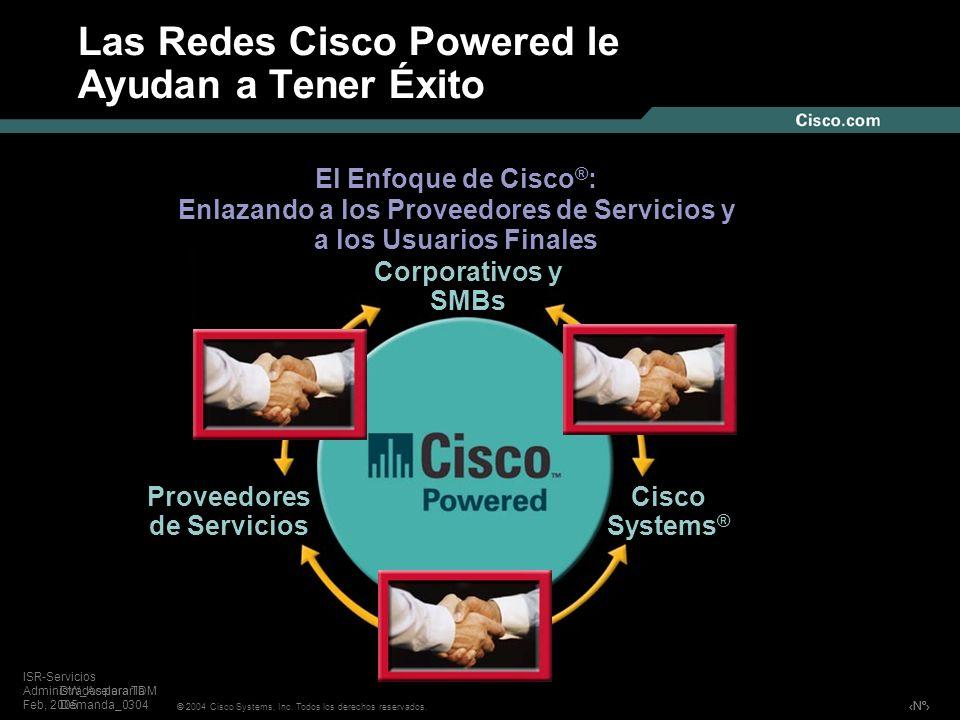 Las Redes Cisco Powered le Ayudan a Tener Éxito