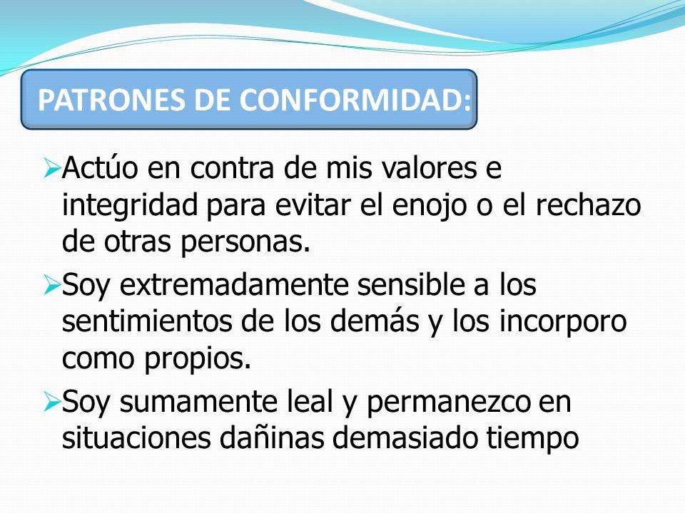 PATRONES DE CONFORMIDAD: