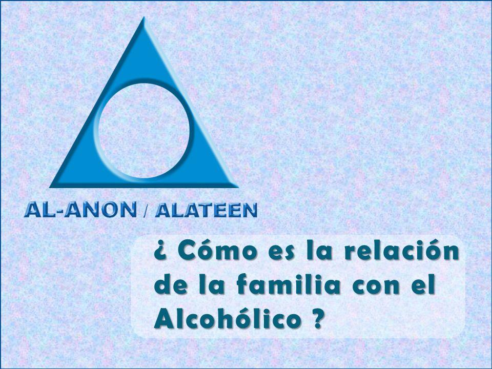 ¿ Cómo es la relación de la familia con el Alcohólico