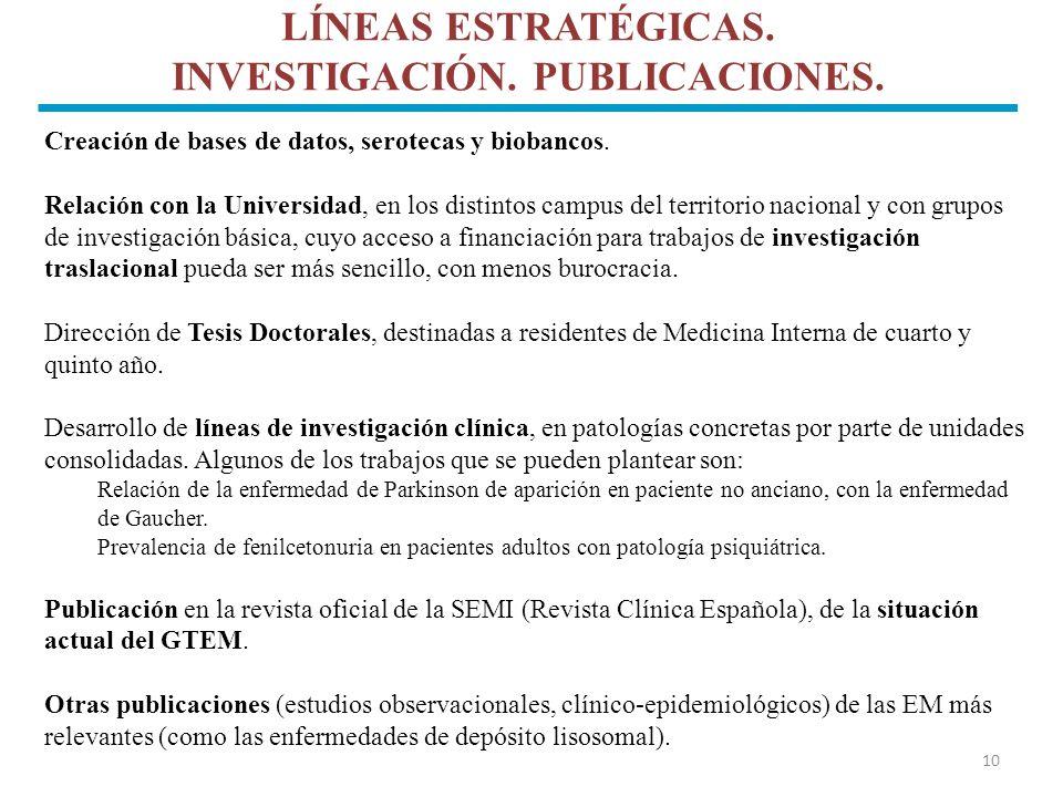 LÍNEAS ESTRATÉGICAS. INVESTIGACIÓN. PUBLICACIONES.