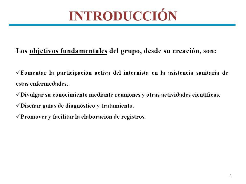 INTRODUCCIÓN Los objetivos fundamentales del grupo, desde su creación, son:
