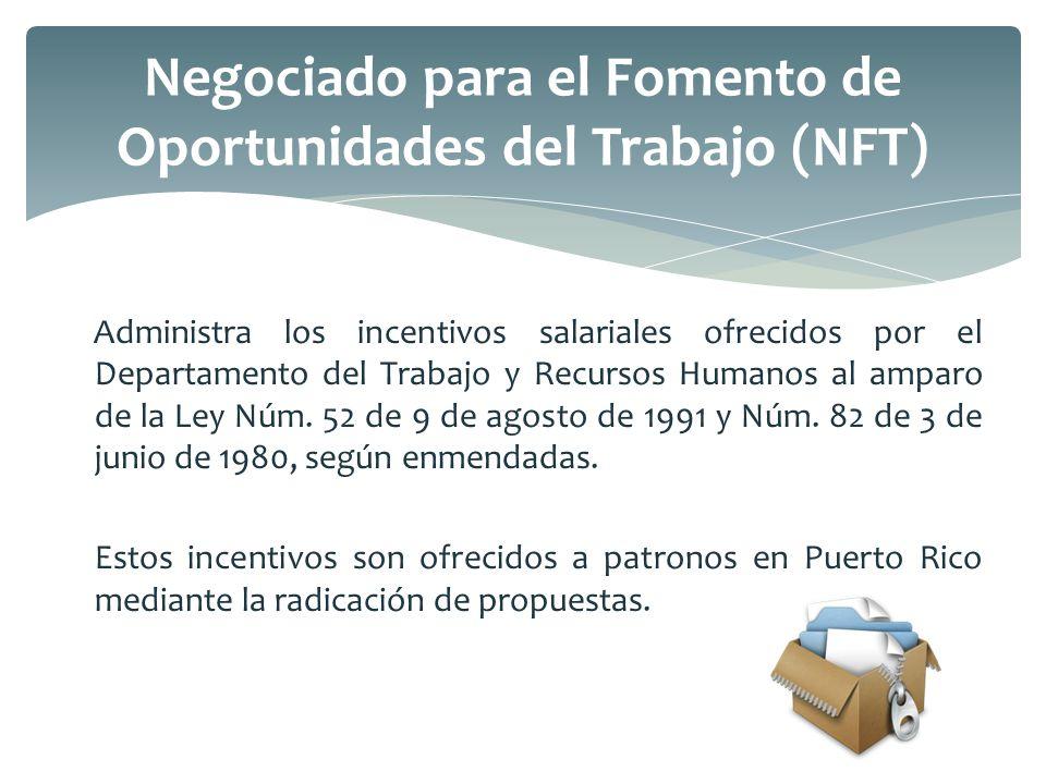 Negociado para el Fomento de Oportunidades del Trabajo (NFT)
