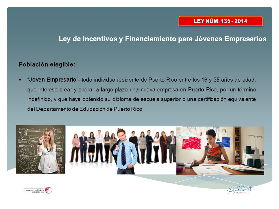 Ley de Incentivos y Financiamiento para Jóvenes Empresarios