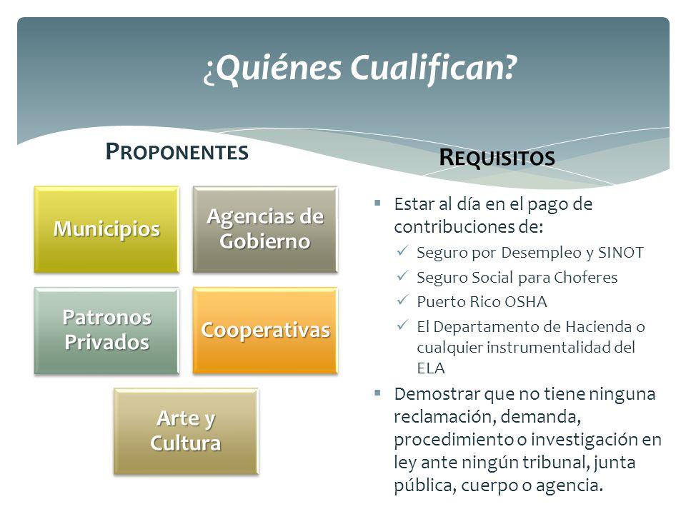 ¿Quiénes Cualifican Proponentes Requisitos