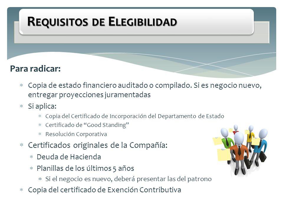 Requisitos de Elegibilidad