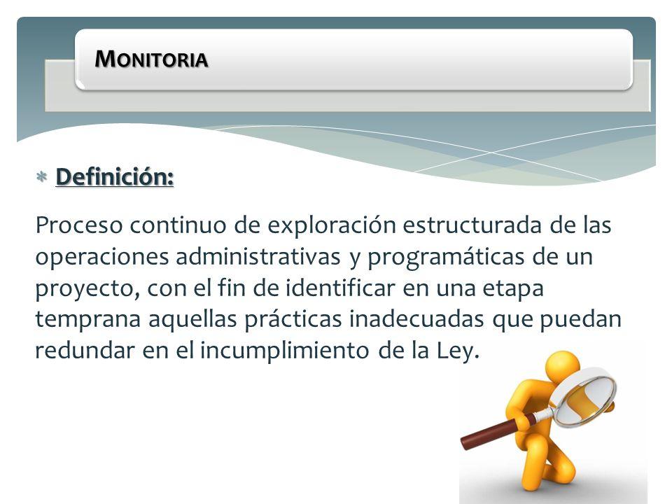 Monitoria Definición: