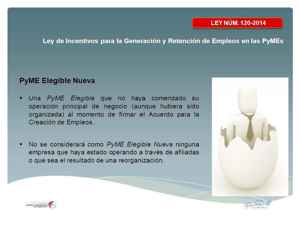 LEY NÚM. 120-2014 PyME Elegible Nueva.