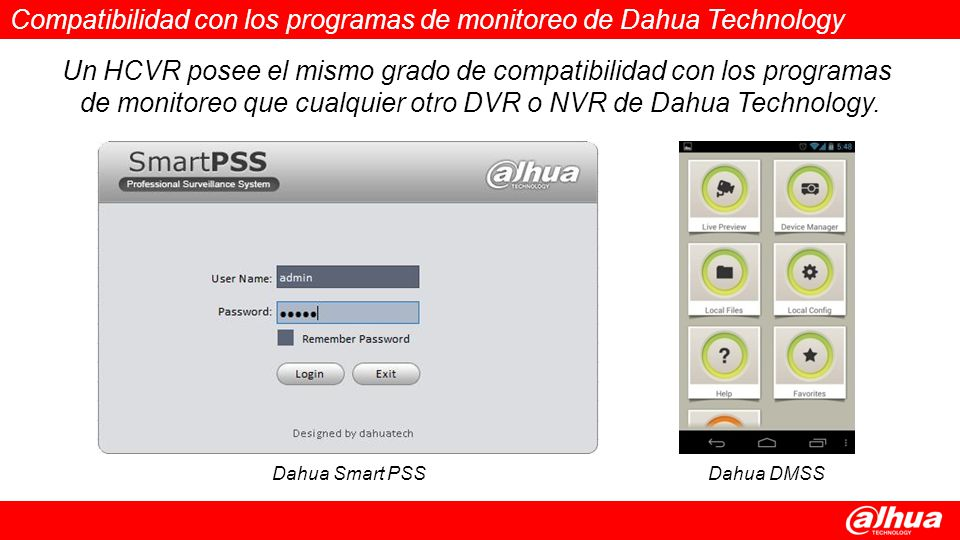 Compatibilidad con los programas de monitoreo de Dahua Technology