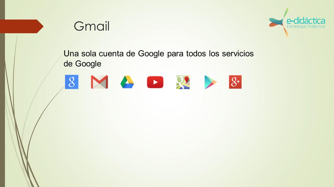 Gmail Una sola cuenta de Google para todos los servicios de Google