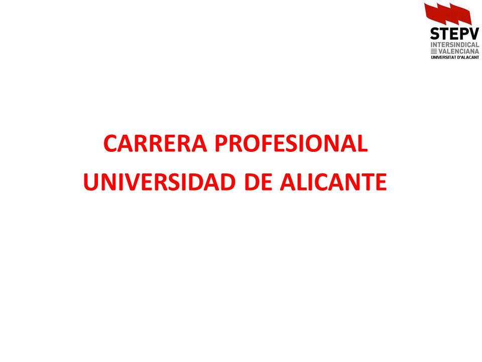 CARRERA PROFESIONAL UNIVERSIDAD DE ALICANTE