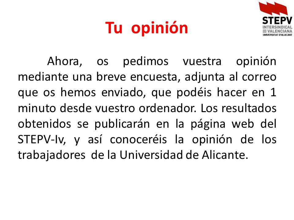 Tu opinión